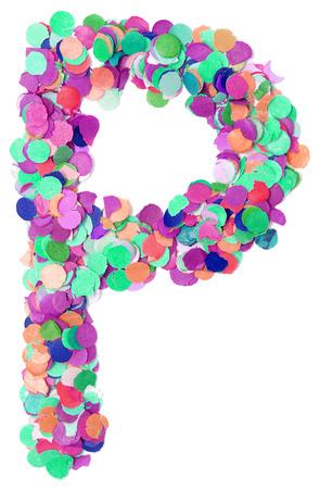 letter word: decorative letter P
