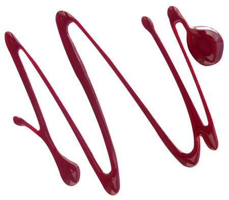 enamel: Abstract nail polish (enamel) drops sample, isolated on white