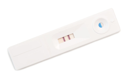 conceive: pregnancy test isolated on a white background Stock Photo