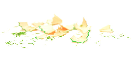 scobs: pencil shavings isolated on white background