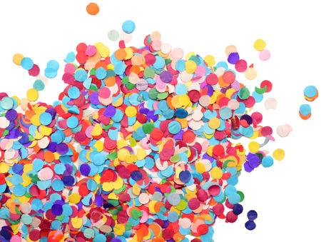 confetti: confetti isolated on white background