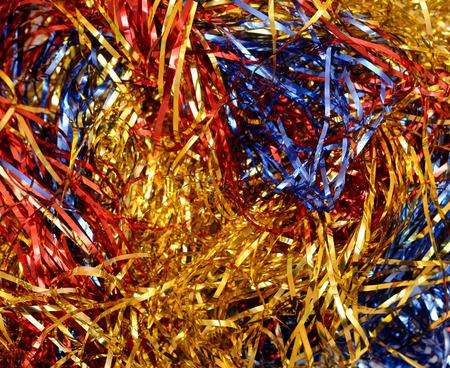 shiny: Multicolored shiny Christmas garland Stock Photo