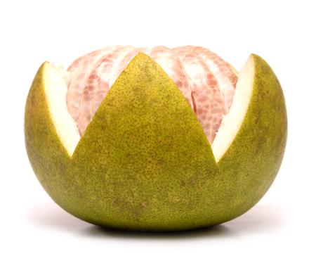 freshest: Fresh of pomelo fruit on white background Stock Photo