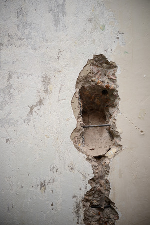 durty: hole in in wall as a background