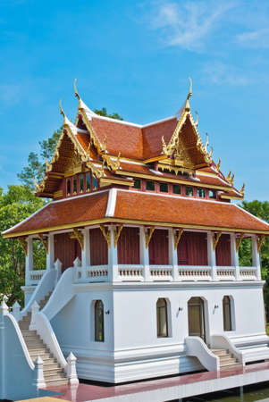 Pavilian at the temple in Pattaya city photo