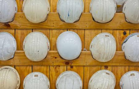 Safty helmet in locker Stock Photo - 13511038