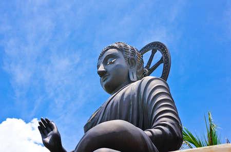 Big sit-in buddha in Thailand photo