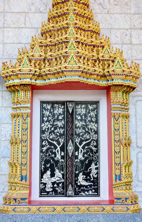 Wat Thai gate style photo