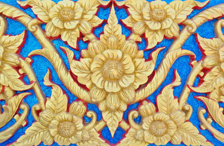 Thai gold painting photo