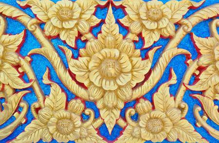 Thai gold painting photo