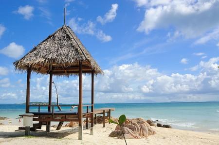 honey moon: This is Munnork Island Resort at Rayong,Thailand Stock Photo