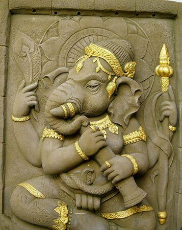 in hinduism: elephant - headed god