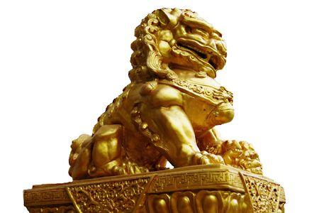 Statue golden  lion            Stock Photo