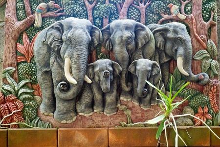 moulded: la figura del elefante moldeados Foto de archivo