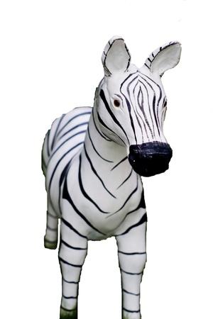 equid: molded zebra Isolated on White