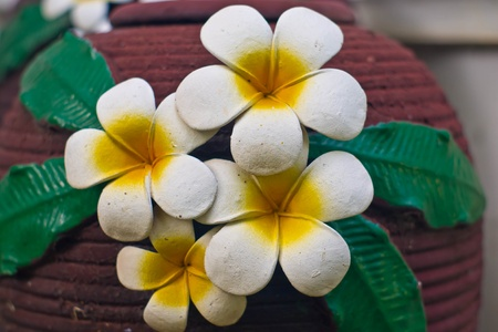 flower molds handmade Traditional northern Thai style photo