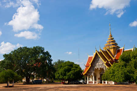 temple, Wat thai in lamphun nort of thailand Stock Photo