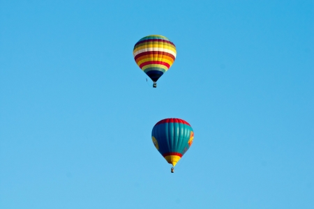Colorful of ballon in blue sky photo