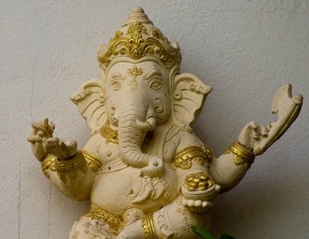 closed up elephant - headed god, Buddhist beliefs. Stock Photo - 17107889
