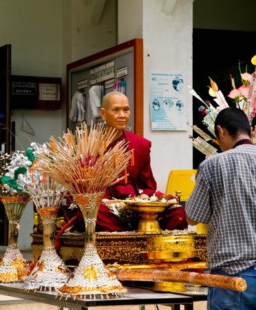 beliefs: Men respect wax buddhist monks ,Beliefs and faith