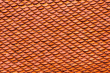 Orange roof is mainly used for thai temple photo