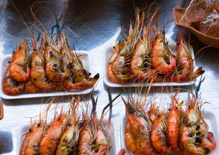 gambas: Grilled shrimp and Sauce is a thai food