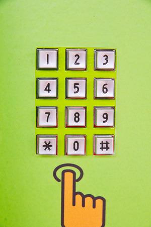 Public telephone Keypad , closed up photo