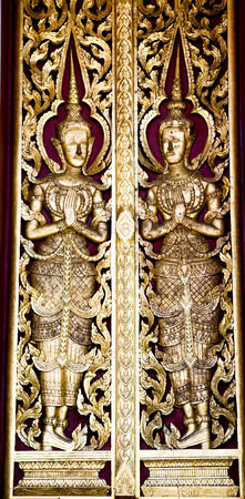 Thai architecture made for  window temple