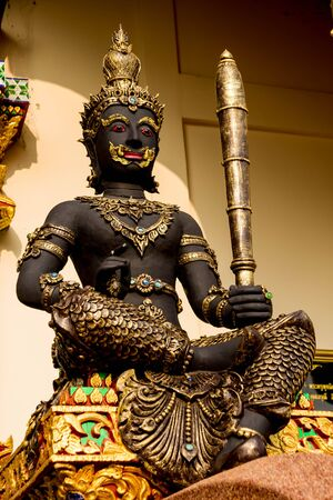 Divinity statue in the temple ,thai beliefs Stock Photo