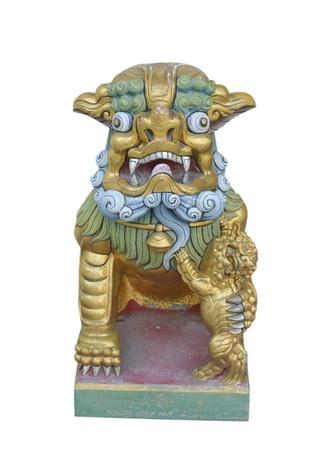 lion figurehead Stock Photo