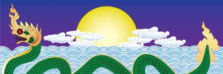 thai serpent Illustration