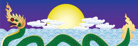 colurful: thai serpent Illustration