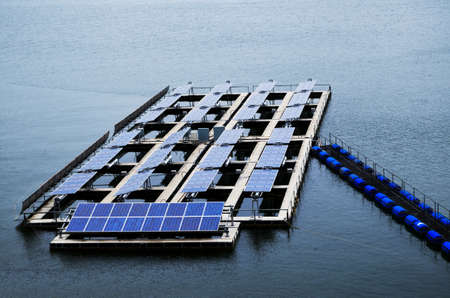 solar panel on the lake,thailand