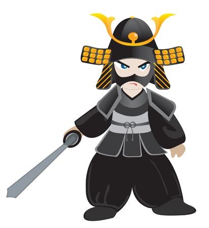 self defense: poco samurai Vectores
