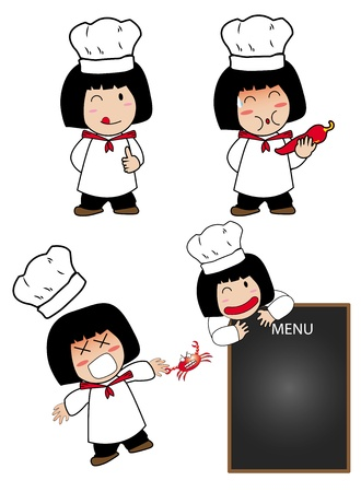 action little cook Vector