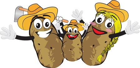 potato family Illustration