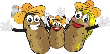 potato family 向量圖像