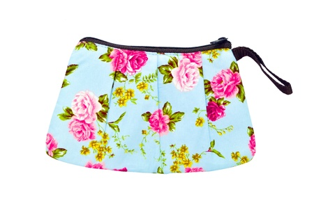 vintage flowers bag Stock Photo