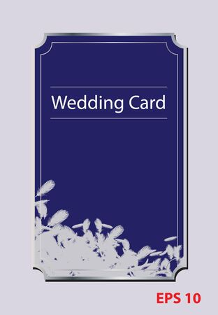 Bird feather wedding card Illustration