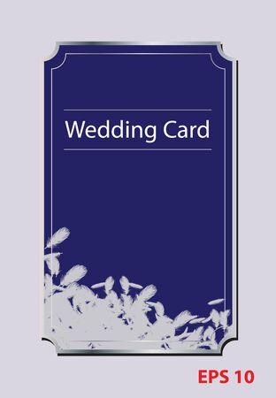 Vogelfeder Hochzeitskarte Illustration