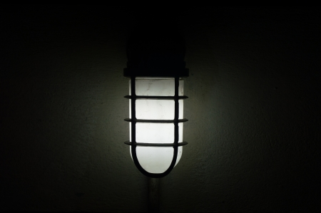 Lamp in the dark