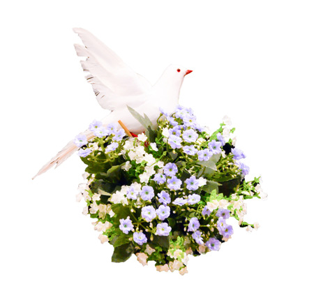 wedding floral with bird Stock Photo - 22718655