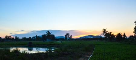 l�ndlichen auf Sonnenuntergang