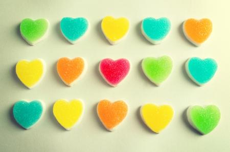 Hearts jelly pattern