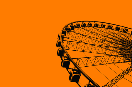 Ferris wheel silhouettes Stock Photo