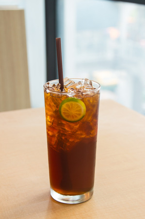 Ice lemon tea Stock Photo