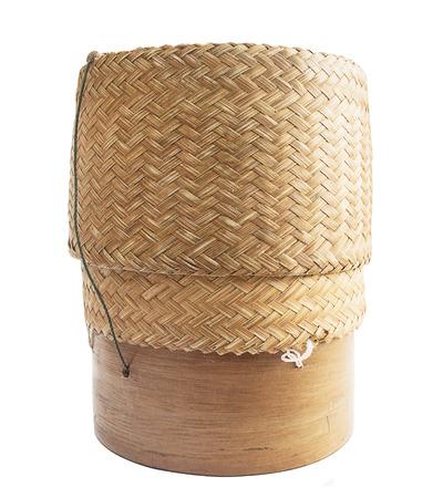KRATIP, Thai-Laos Bambus klebrigen Reisbeh�lter isoliert