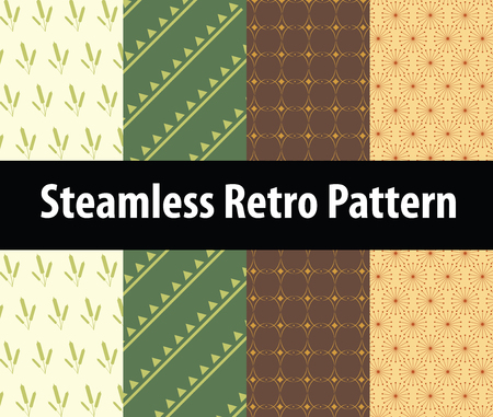 The Steamless retro patterns background for design Illustration