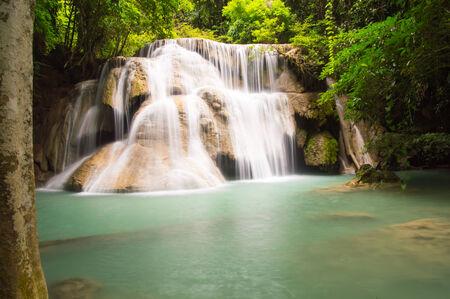 rd: 3 rd floor of huaymaekamin waterfall Kanchanaburi province,Thailand