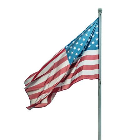 America flag isolated photo